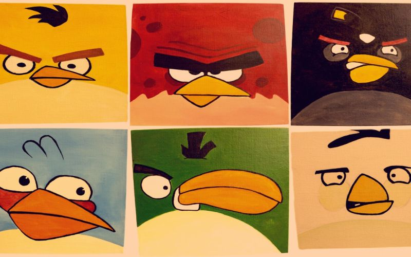 Angry birds widescreen game wallpaper