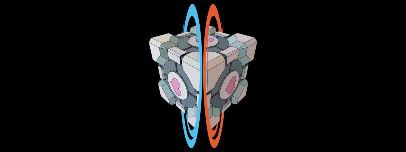 Portal portal 2 cube portal cube wallpaper