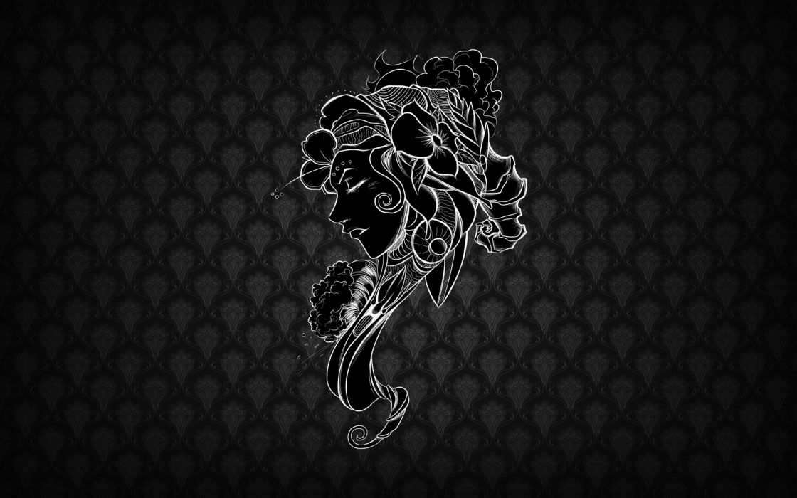 Black patterns textures faces wallpaper