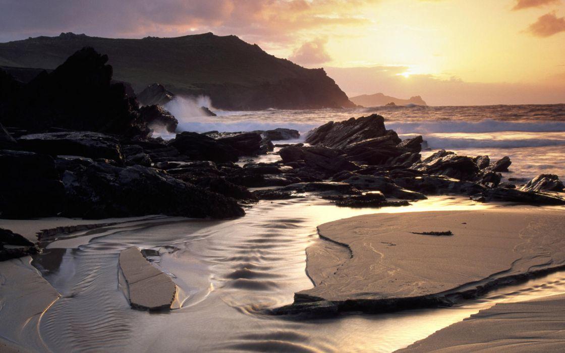 Landscapes sand cliffs seascapes wallpaper