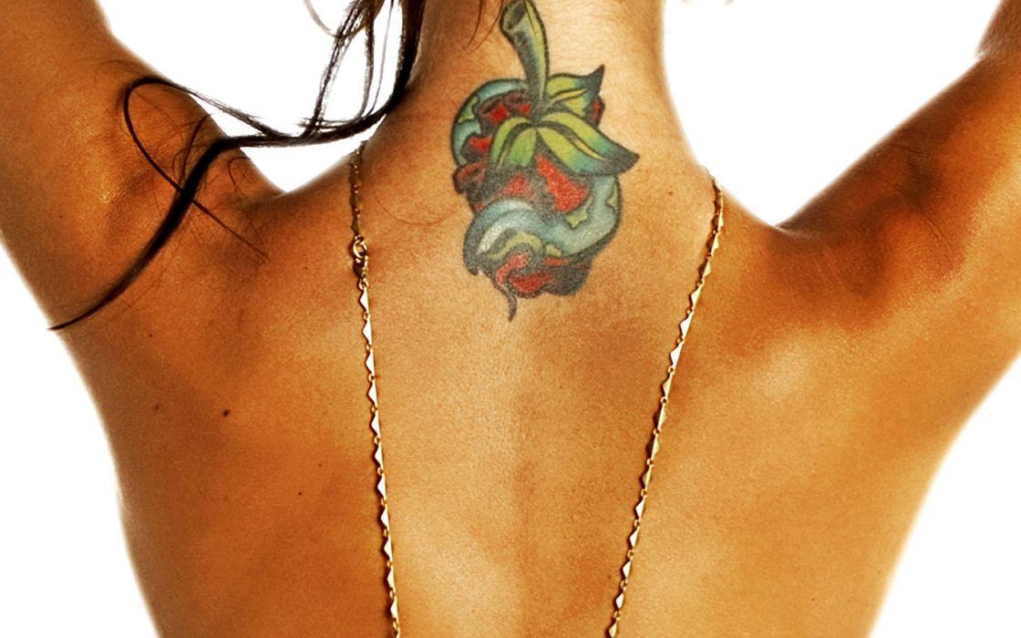 Tattoos women audrina patridge white background arms raised wallpaper
