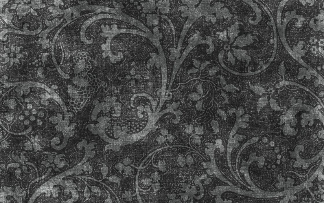 Patterns textures grayscale floral wallpaper