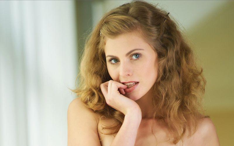 Blondes women models curly hair mpl studios magazine nude katsia strawberry wallpaper