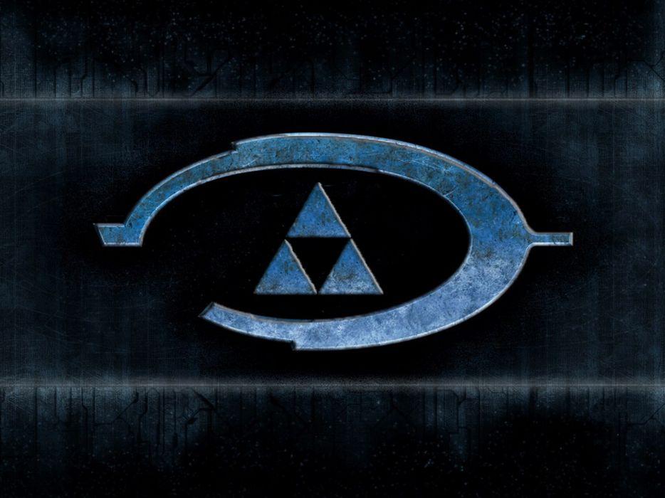 Video games halo triforce wallpaper