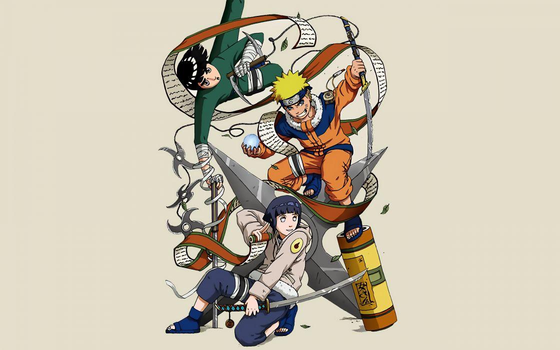 Naruto shippuden hyuuga hinata rock lee naruto uzumaki ninja scroll wallpaper