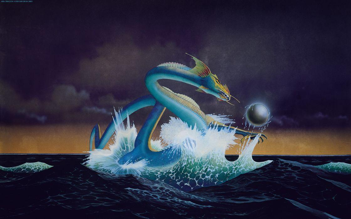 Dragons roger dean asia album covers wallpaper
