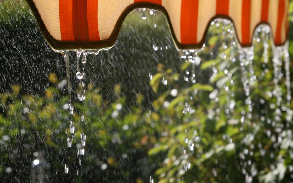 Water rain wallpaper