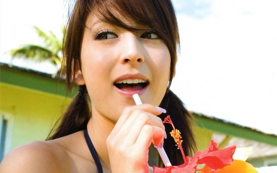 Women leah dizon models japanese people portraits wallpaper