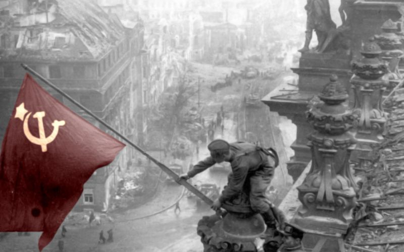 Ussr selective coloring wallpaper