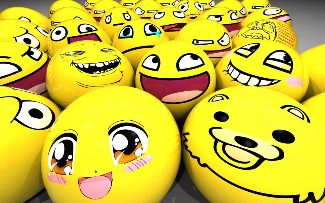 Yellow balls meme derp smiling wallpaper