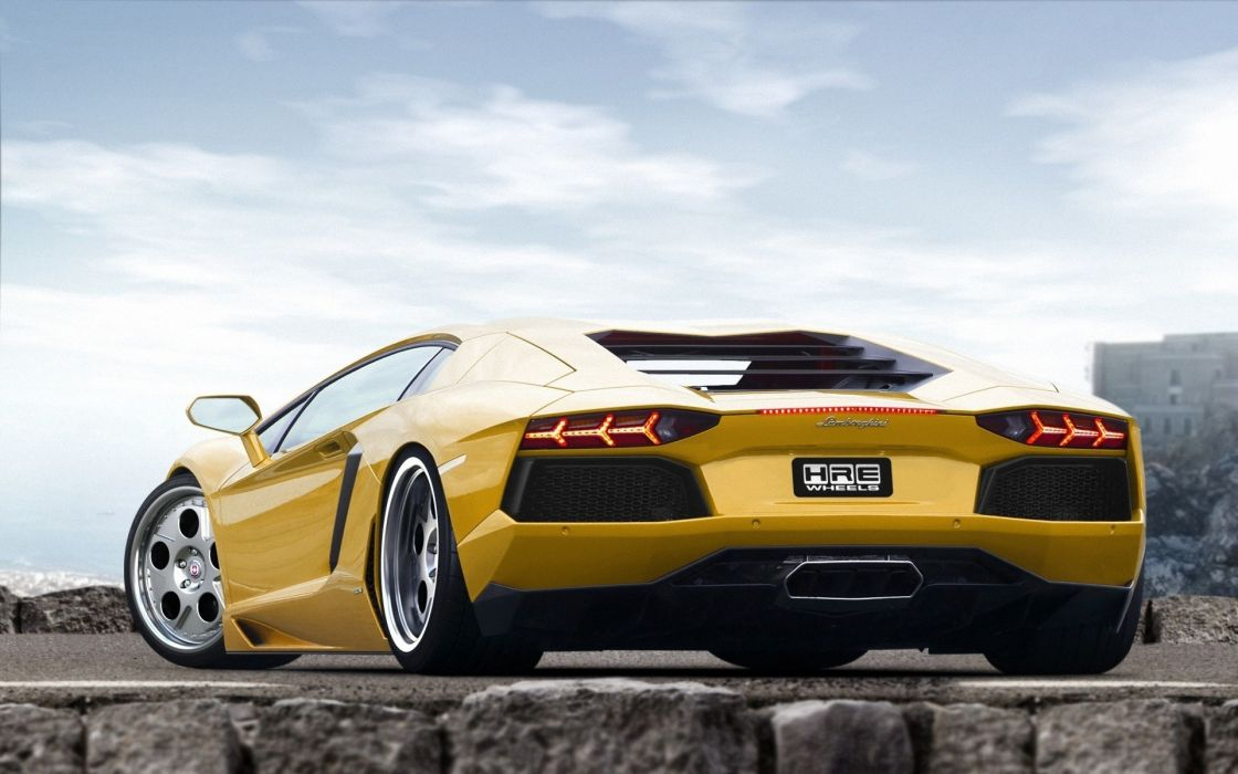 Cars italian supercars lamborghini aventador yellow cars wallpaper