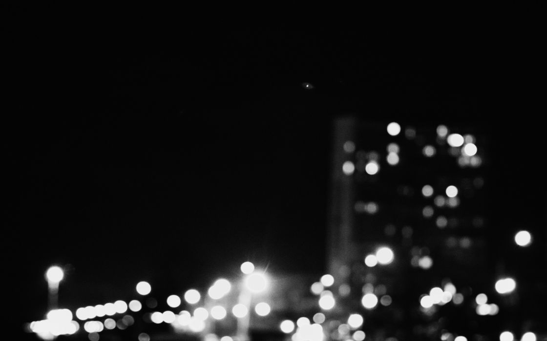 Cityscapes night town blurred wallpaper