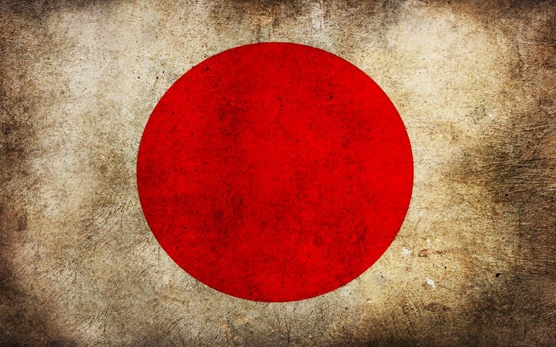 Japan grunge flags wallpaper