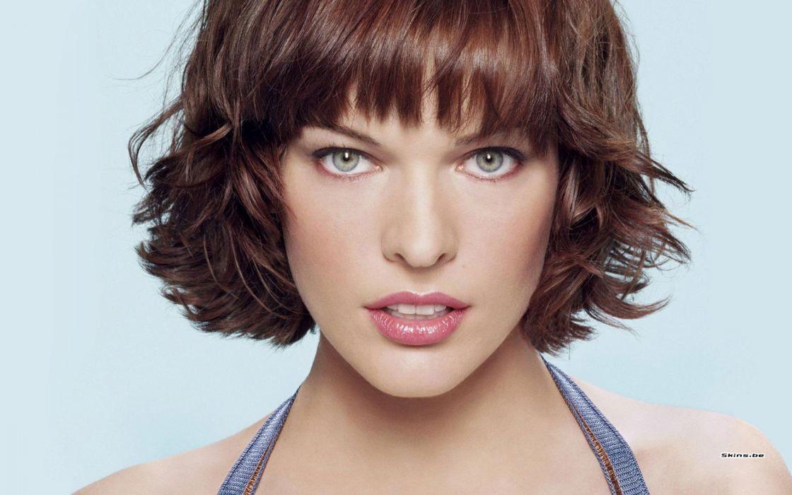 Women actress milla jovovich faces wallpaper