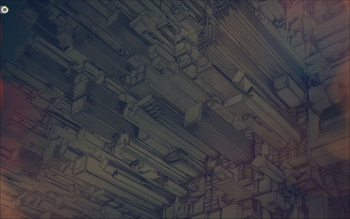 Abstract inception design digital art wallpaper