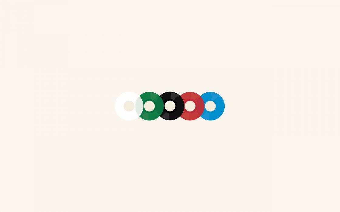 Minimalistic music vinyl wallpaper