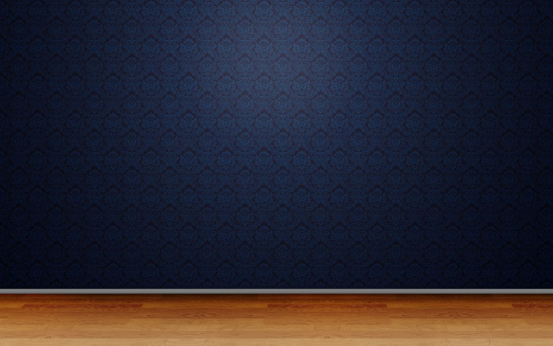 3D view room patterns wallpaper
