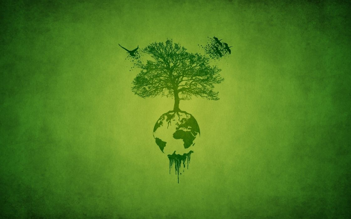 Trees artistic earth digital art ecosystem wallpaper