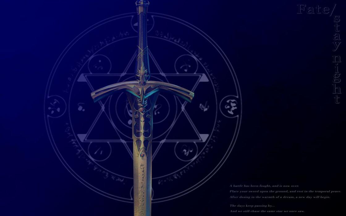 Fatestay night excalibur swords fate series wallpaper