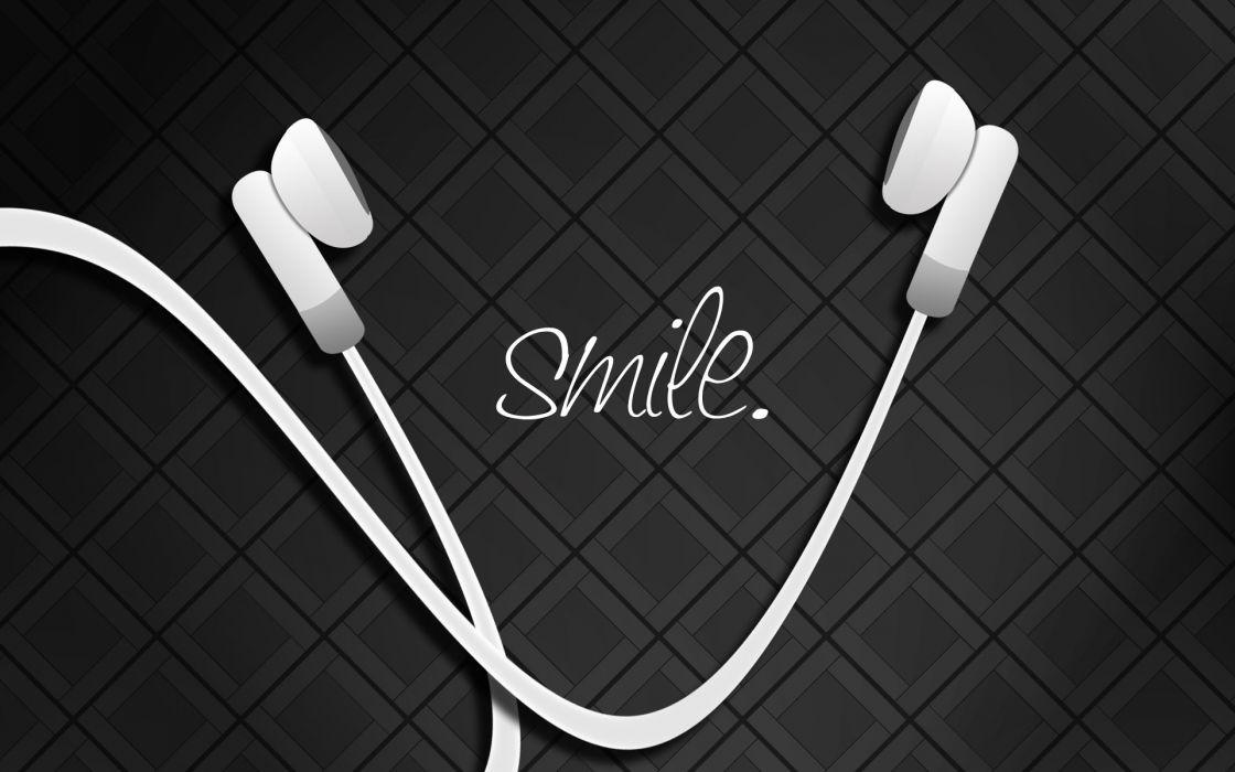 Headphones smiling wallpaper