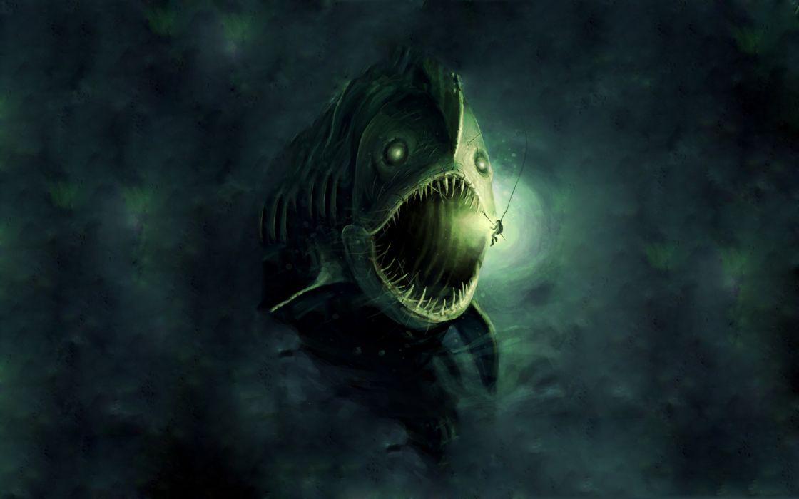 Anglerfish wallpaper