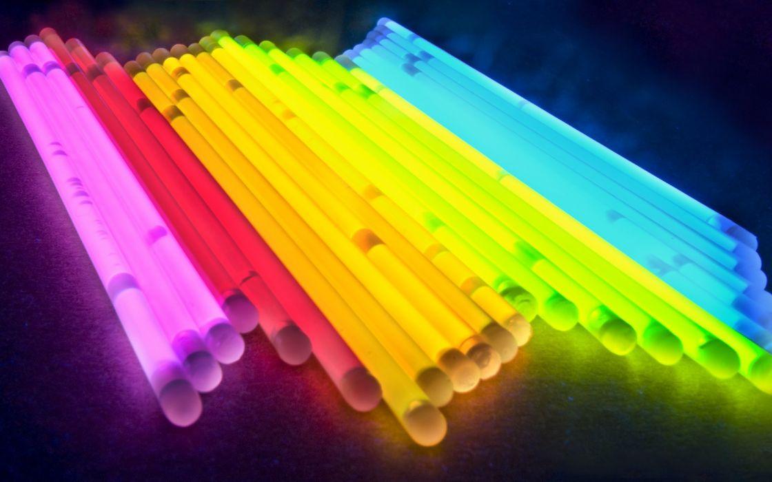 Multicolor glowing straws wallpaper