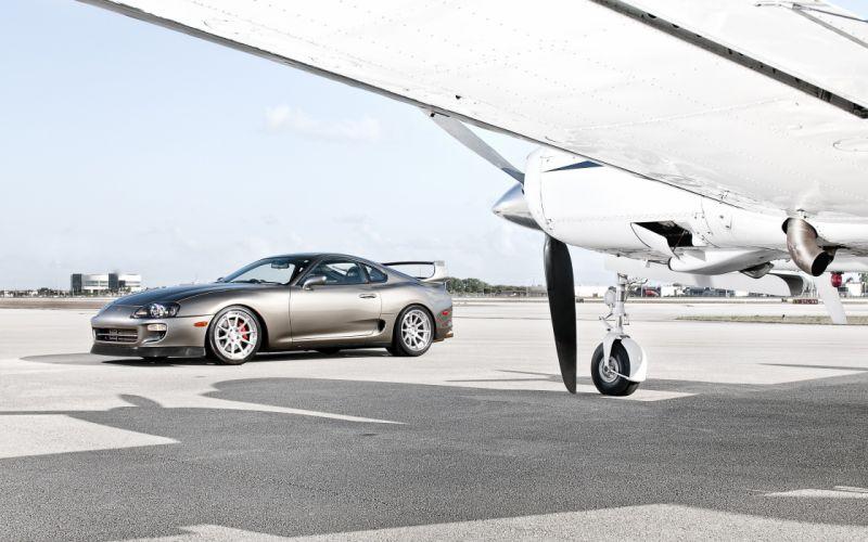 Cars silver toyota supra wallpaper