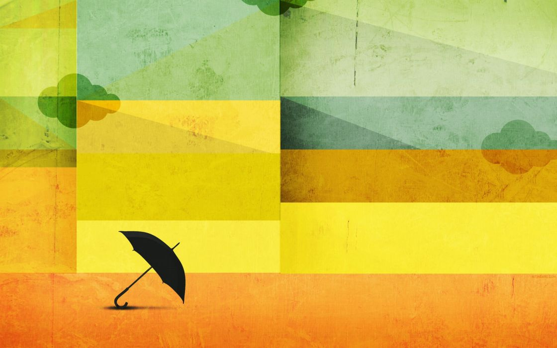 Abstract minimalistic umbrellas wallpaper