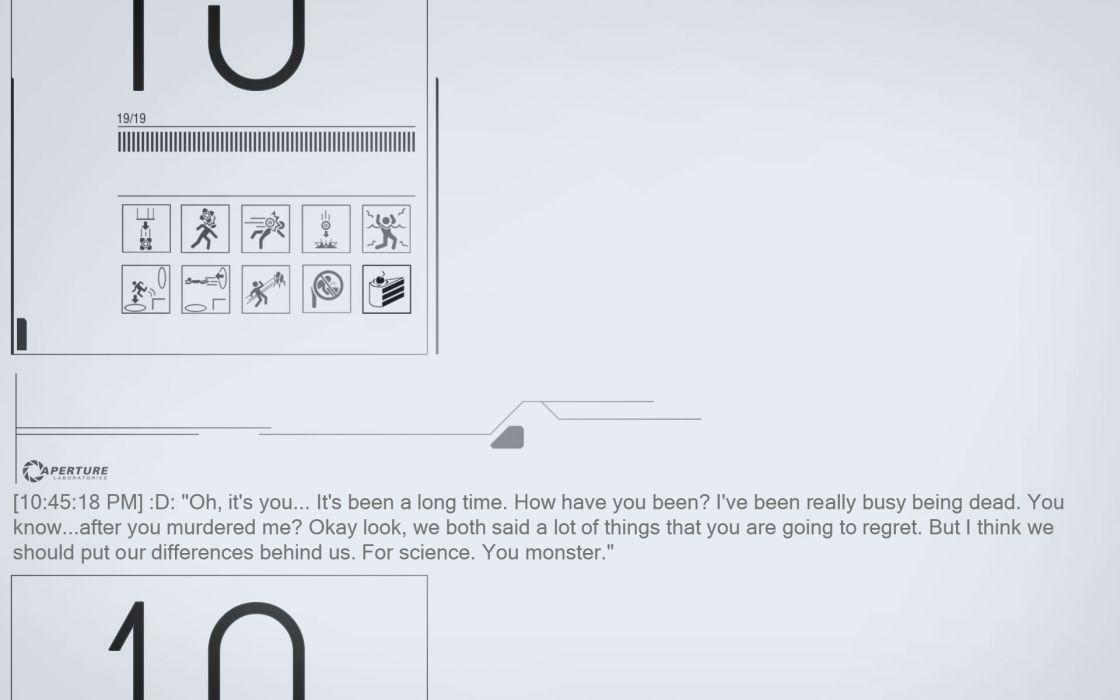 Video games quotes portal 2 wallpaper