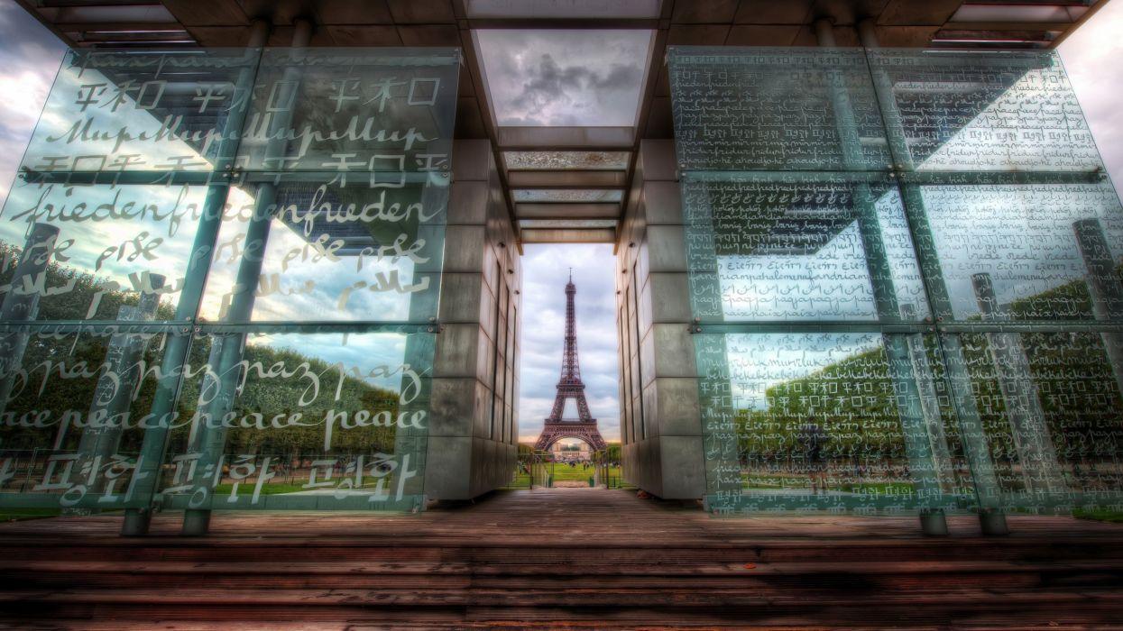 Eiffel tower paris glass monument wallpaper