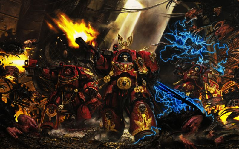Terminator warhammer 40k space marines blood angels genestealer wallpaper