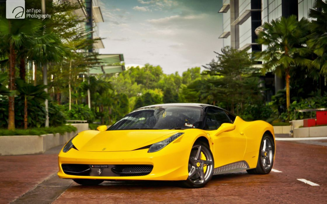 Cars Ferrari Italian Supercars 458 Italia Yellow Wallpaper