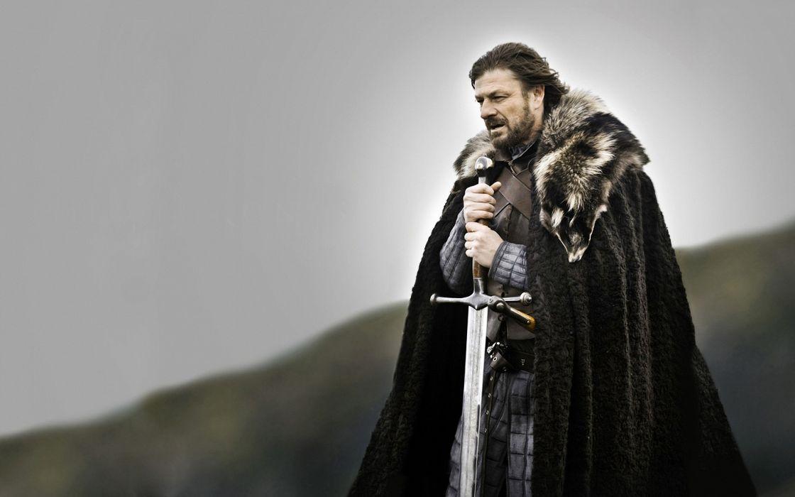 Winter (season) fantasy art warriors series game of thrones medieval sean bean tv series eddard 'ned' stark swords wallpaper