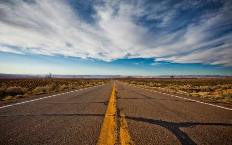Clouds landscapes desert highway roads infinity skyscapes stripes wallpaper