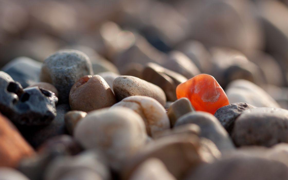Nature stones macro pebbles depth of field wallpaper