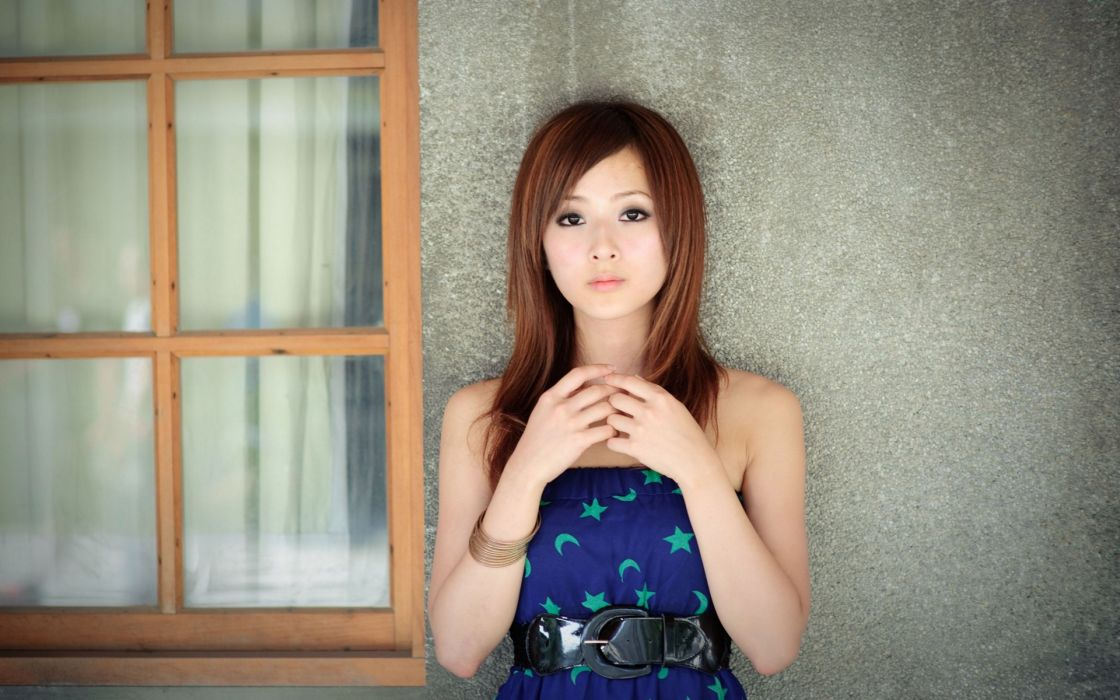 Women redheads models asians mikako zhang kaijie wallpaper