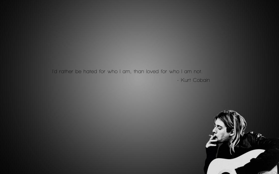 Smoking black white grunge quotes nirvana kurt cobain cigarettes wallpaper