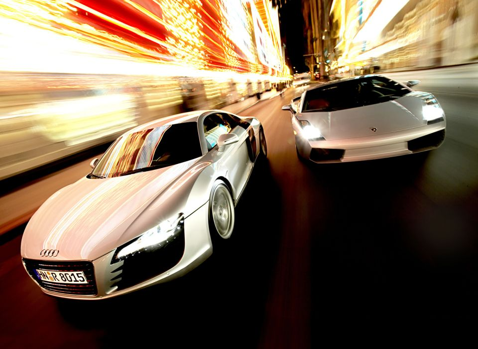 Cars lamborghini audi twins silver vehicles lamborghini gallardo audi r8 wallpaper