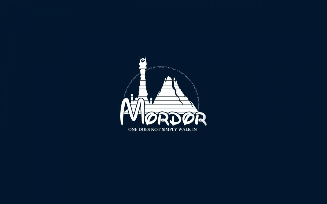 Disney company minimalistic funny the lord of the rings mordor artwork wallpaper