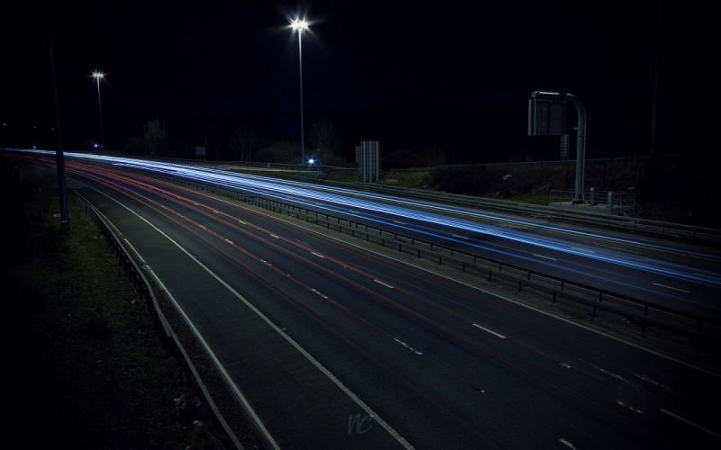 Highway roads long exposure wallpaper