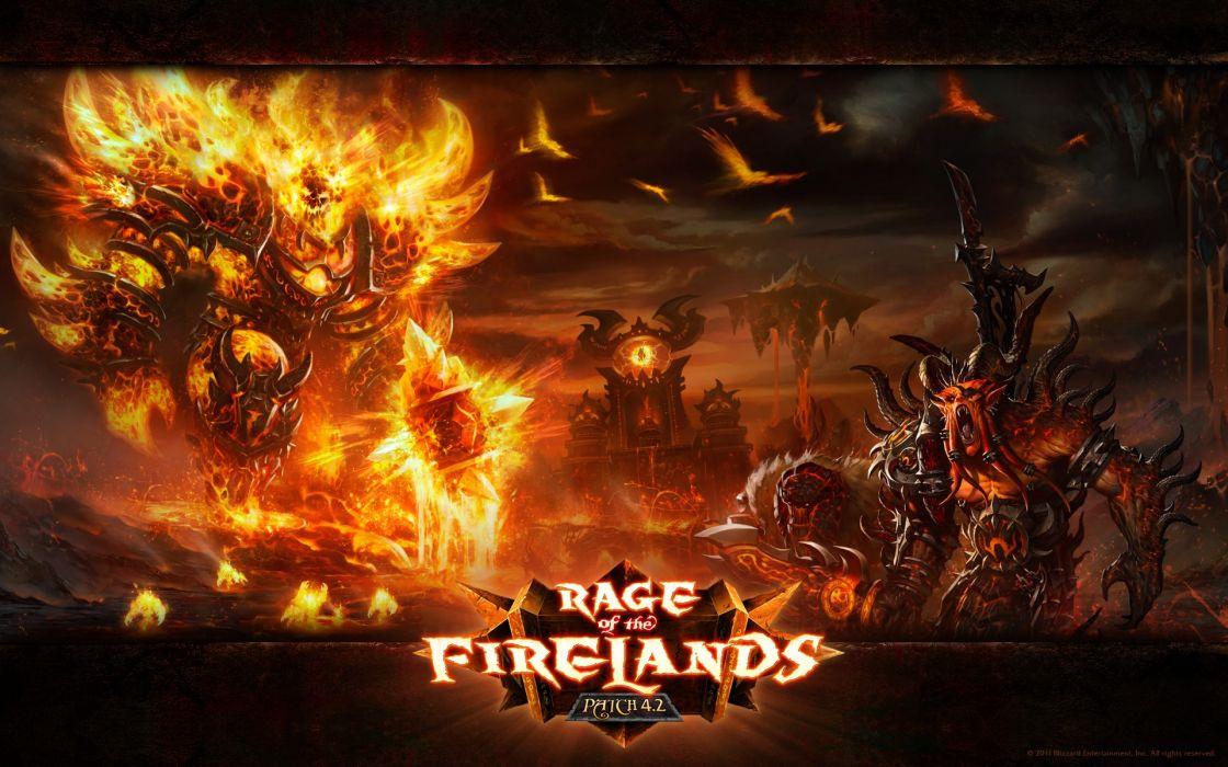 World of warcraft rage firelands world of warcraft cataclysm wallpaper