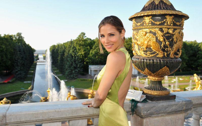 Blondes women landscapes models people elsa pataky green dress wallpaper