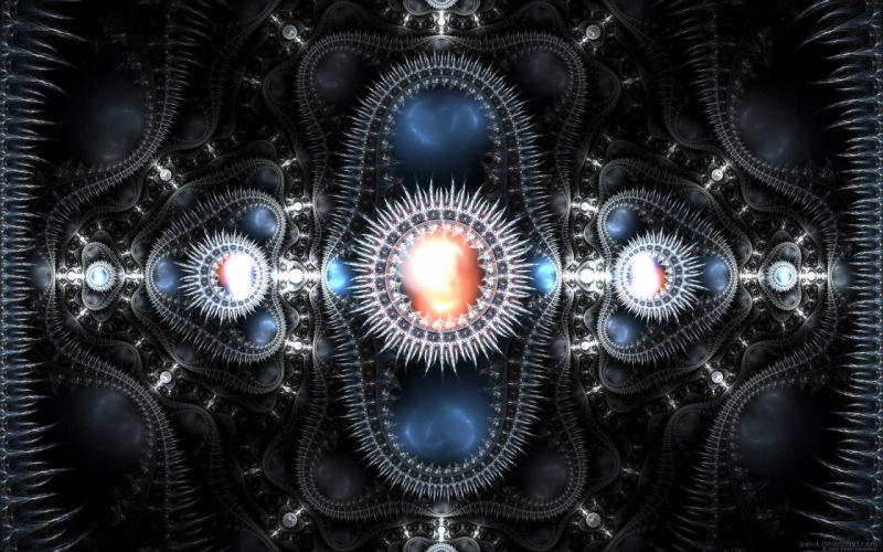 Abstract metallic spikes artwork wallpaper