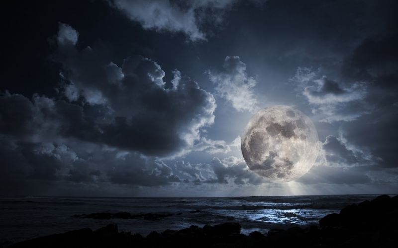 Landscapes outer space dark night moon wallpaper