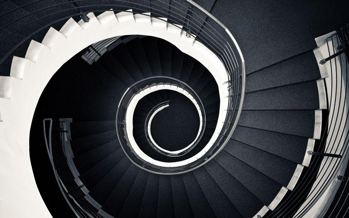 Spiral stairs wallpaper