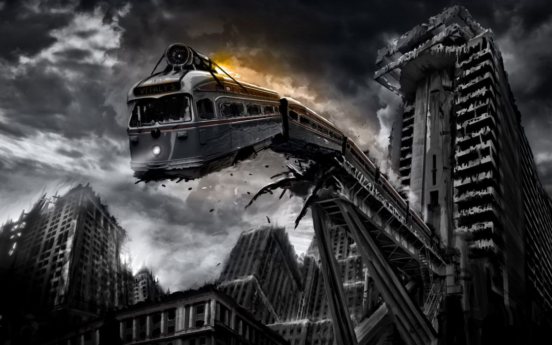 Trains romantically apocalyptic vitaly s alexius wallpaper