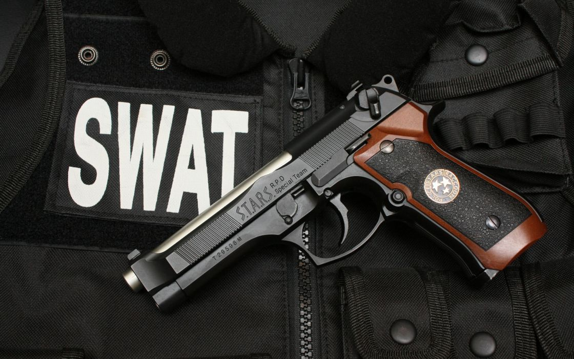 Guns resident evil swat handguns wallpaper