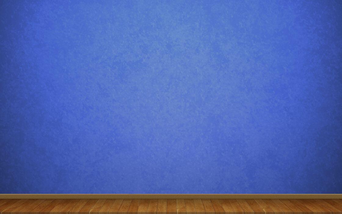 3D view blue minimalistic wall wallpaper