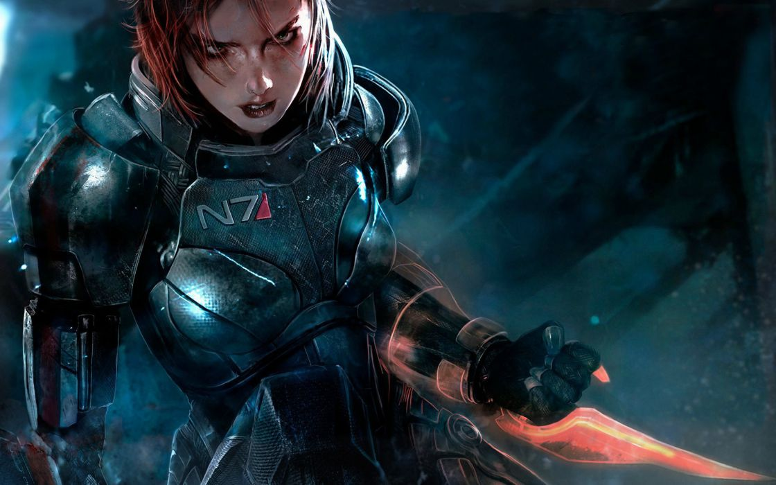Mass effect femshep wallpaper