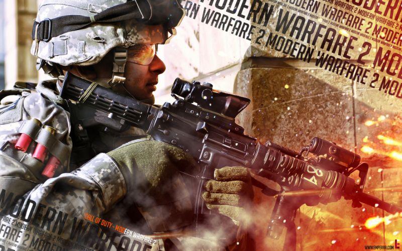 Military call of duty modern warfare 2 wallpaper